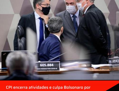 CPI encerra atividades e culpa Bolsonaro por tragédia da Covid.