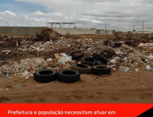 Prefeitura e população necessitam atuar em conjunto na fiscalização de terrenos baldios.