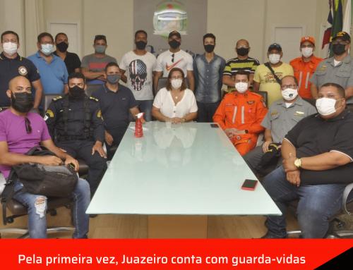 Pela primeira vez, Juazeiro conta com guarda-vidas reforçando a segurança de banhistas na Orla.